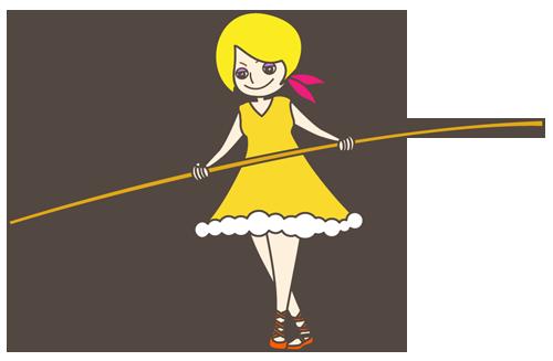 女の子(綱渡り)