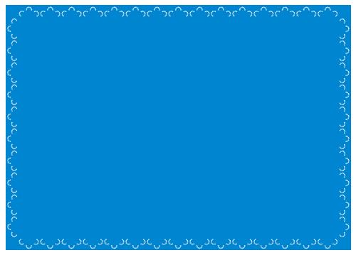 レース(青)