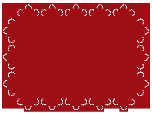 レース(赤)