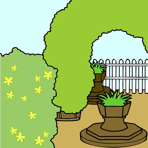 庭(洋風ガーデン)