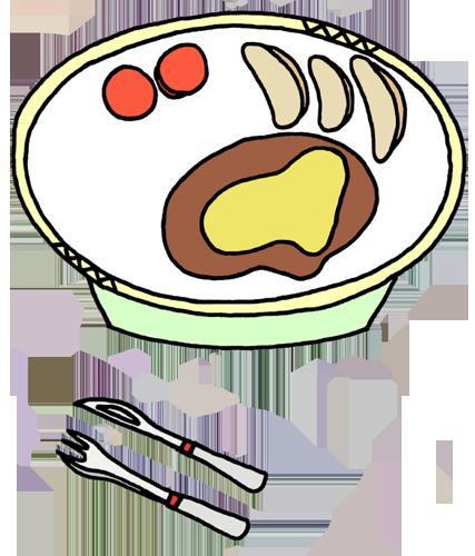 料理(ハンバーグ)