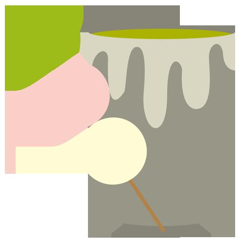 和菓子(団子・お茶)