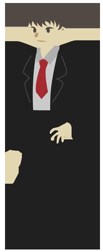 男性(スーツ姿)