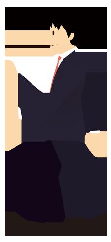 男性(スーツ姿・歩く)