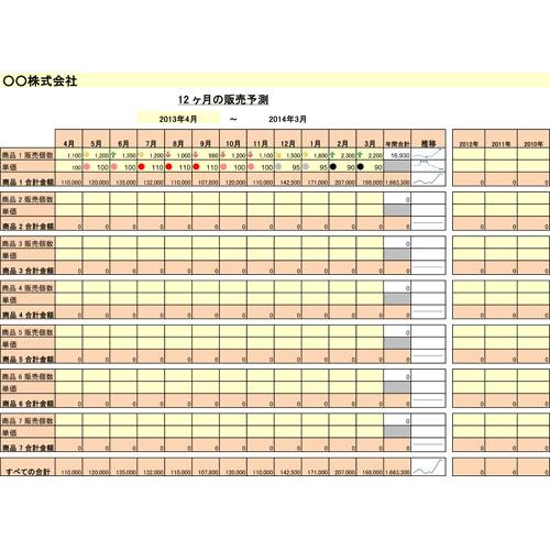 販売予測(215.9×279.4MMヨコ)