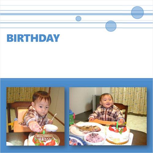 フォトスクラップ(誕生日)(200×200MM・ヨコ)