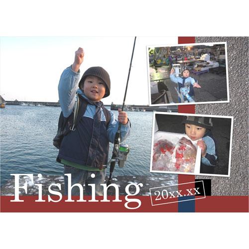 フォトスクラップ(釣り)(A4・ヨコ)