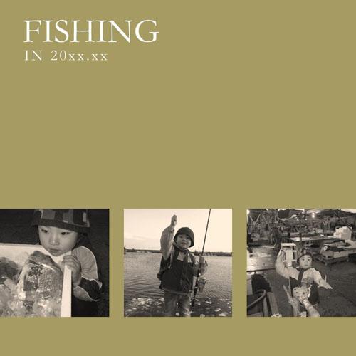 フォトスクラップ(釣り)(200×200MM・ヨコ)