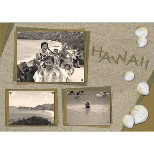 フォトスクラップ(ハワイ)(A4・ヨコ)