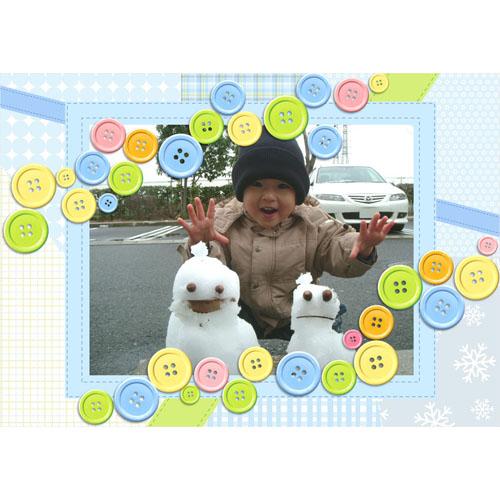 フォトスクラップ(冬)(A4・ヨコ)