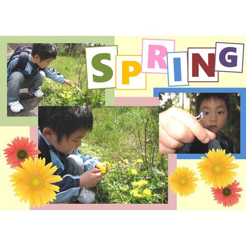 フォトスクラップ(春)(A4・ヨコ)