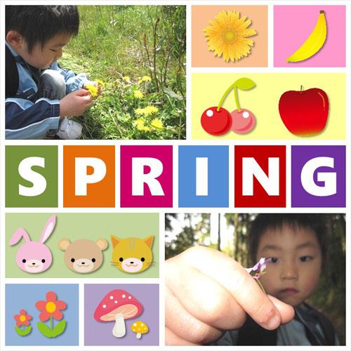 フォトスクラップ(春)(200×200MM・ヨコ)