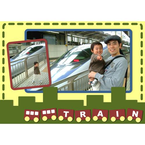 フォトスクラップ(電車)(A4・ヨコ)
