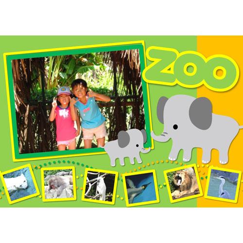 フォトスクラップ(動物園)(A4・ヨコ)
