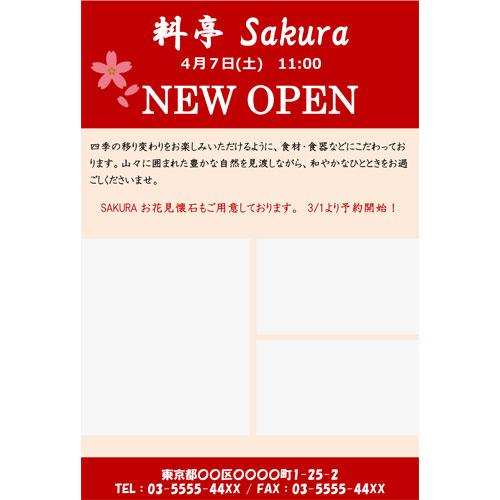DM(オープン・和食店)(ハガキ・タテ)