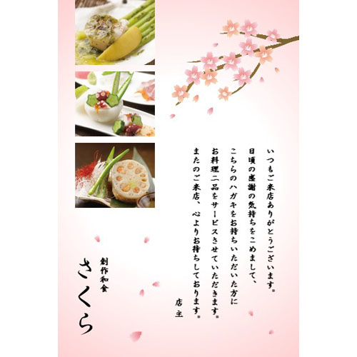 DM(サービス・和食店)(ハガキ・タテ)
