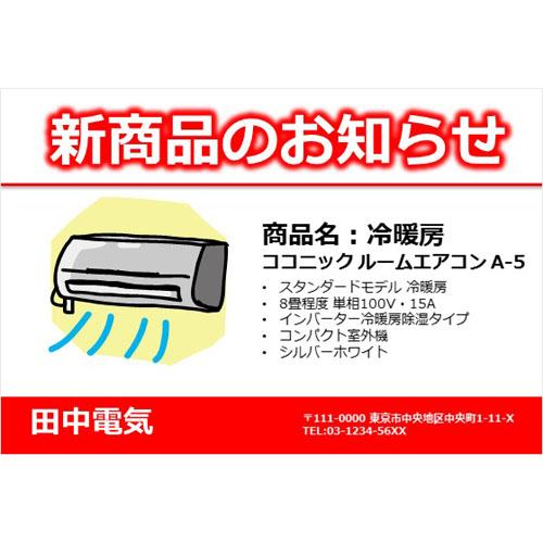 DM(商品紹介)(ハガキ・ヨコ)