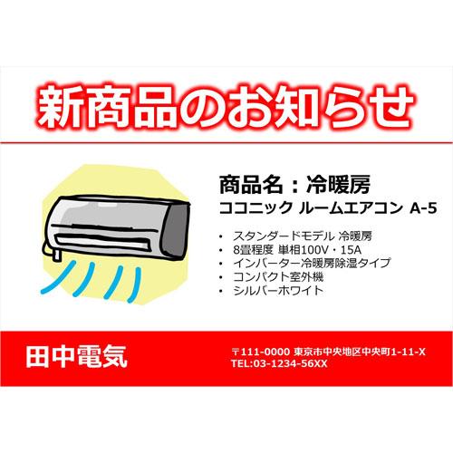 チラシ(商品紹介)(A4・ヨコ)